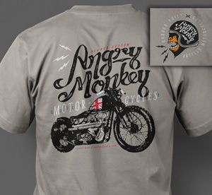 Angry Monkey Motorcycles T-Shirt